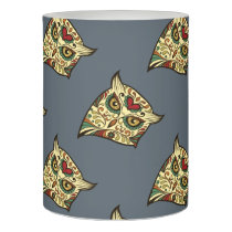 Sugar Skull Owl - Tattoo Design Flameless Candle