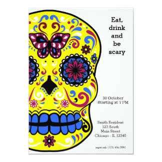 Sugar Skull party Card