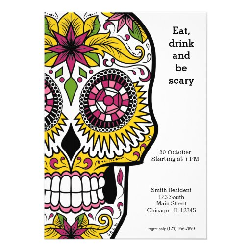 Sugar Skull party Invites
