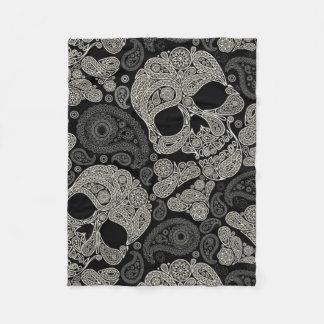 Sugar Skull Pattern Fleece Blanket