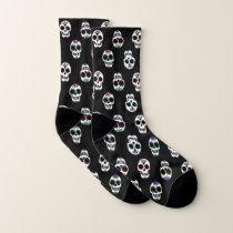 Sugar Skull Pattern Socks