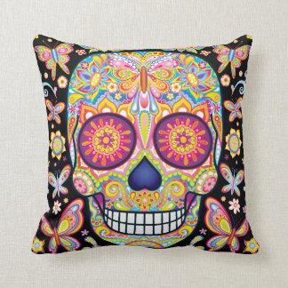 Sugar Skull Pillow - Day of the Dead Art