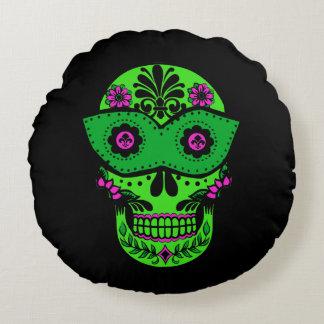 Sugar Skull Pillow Round Pillow