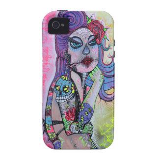 Sugar Skull Pin Up Girl Vibe iPhone 4 Case