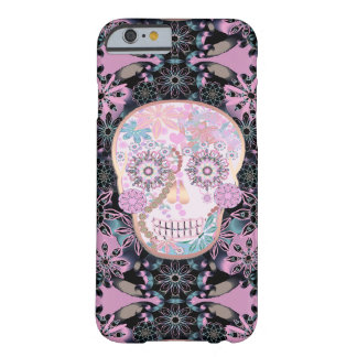 Sugar Skull | Pink Flowers Barely There iPhone 6 Case