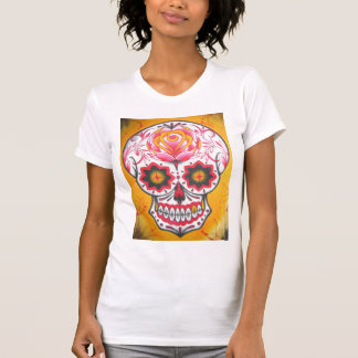 Sugar Skull Pinks and Golds Tank