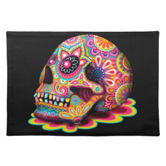 Sugar Skull Placemat - Day of the Dead Art Cloth Placemat