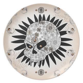Sugar skull party plates