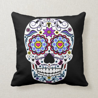 Sugar Skull Print Pillow
