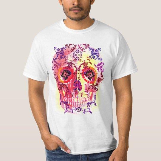 SUGAR SKULL PSYCHEDELIC PRINT T-Shirt