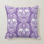 Sugar Skull Purple.png Pillow