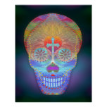 Sugar Skull, Rainbow Day of the Dead Posters