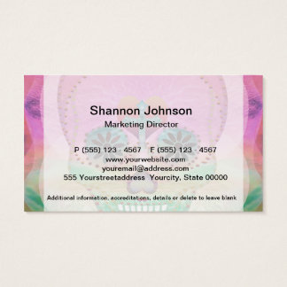 Sugar Skull Rainbow Heart Tree of Life Day of Dead Business Card