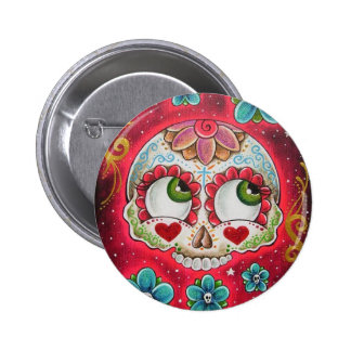 Sugar skull red button