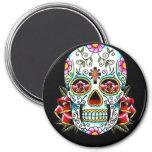 sugar skull refrigerator magnets