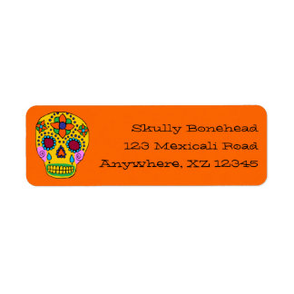 Sugar Skull Return Address Label