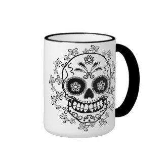 Sugar Skull Ringer Coffee Mug