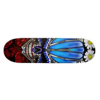 Sugar Skull Roses and Daisy's Skateboard Deck