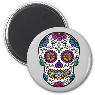 Sugar Skull Round Magnet