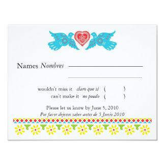 Sugar Skull RSVP Card Personalized Invitation