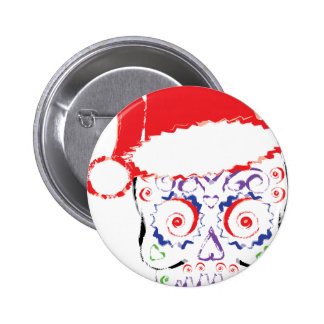 Sugar Skull Santa 2 Inch Round Button