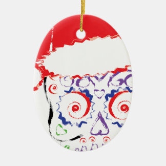 Sugar Skull Santa Christmas Ornaments