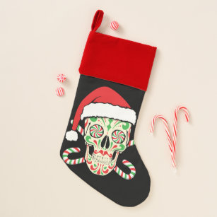 Sugar Skull Stockings Day Of The Dead Stockings Christmas Stockings Ornaments And Accents Home Decor Home Living Stocking with Skulls