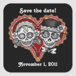 Sugar Skull Save the Date Stickers