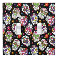 Sugar skull Scary and bloodcurdling intimidating Light Switch Cover