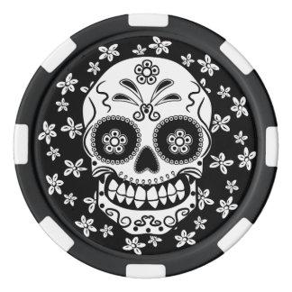 Sugar Skull Set Of Poker Chips