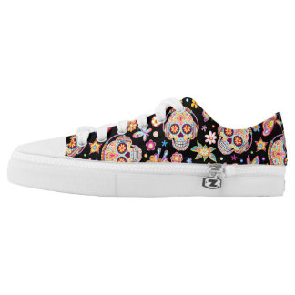 Sugar Skull Shoes - Day of the Dead Skull Shoes