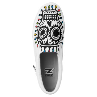 sugar skull sketch Slip-On sneakers