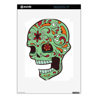 SUGAR SKULL DECAL FOR THE iPad 2