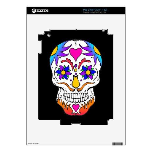 Sugar Skull iPad 2 Decal