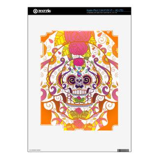 Sugar Skull Decal For iPad 3