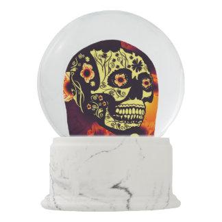 Sugar skull snow globe
