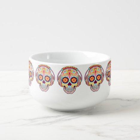 Sugar Skull Soup Mug - Day of the Dead Skulls