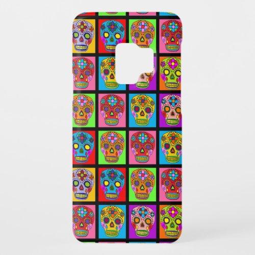 Sugar Skull Squares Phone Case