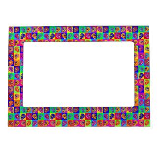 Sugar Skull Squares Magnetic Photo Frame