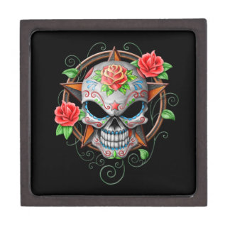 Sugar Skull Star, black Premium Jewelry Box