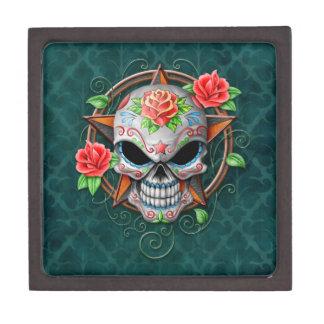 Sugar Skull Star, blue Premium Gift Boxes