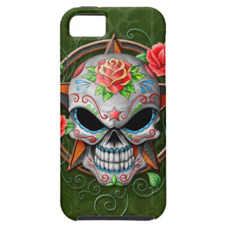 Sugar Skull Star, green iPhone 5 Cover
