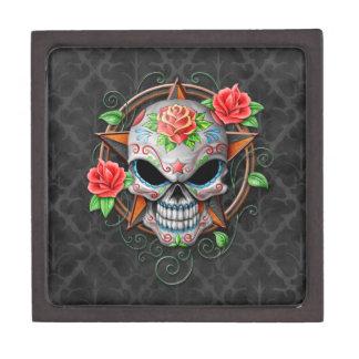 Sugar Skull Star, grey Premium Gift Box