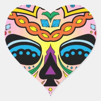 Sugar Skull Heart Sticker