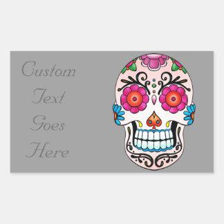 Sugar Skull - Tattoo Art Rectangular Sticker