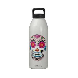 Sugar Skull - Tattoo Art Reusable Water Bottles