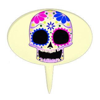 Sugar Skull - Tattoo Design Cake Pick