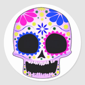 Sugar Skull - Tattoo Design Classic Round Sticker
