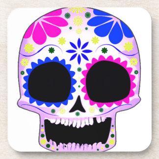 Sugar Skull - Tattoo Design Beverage Coasters