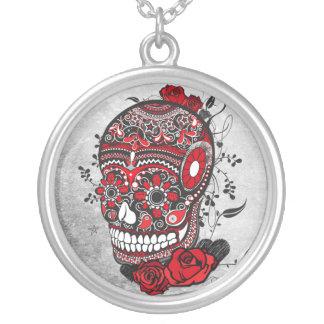 Sugar Skull Tattoo Design Mexican Illustration Jewelry